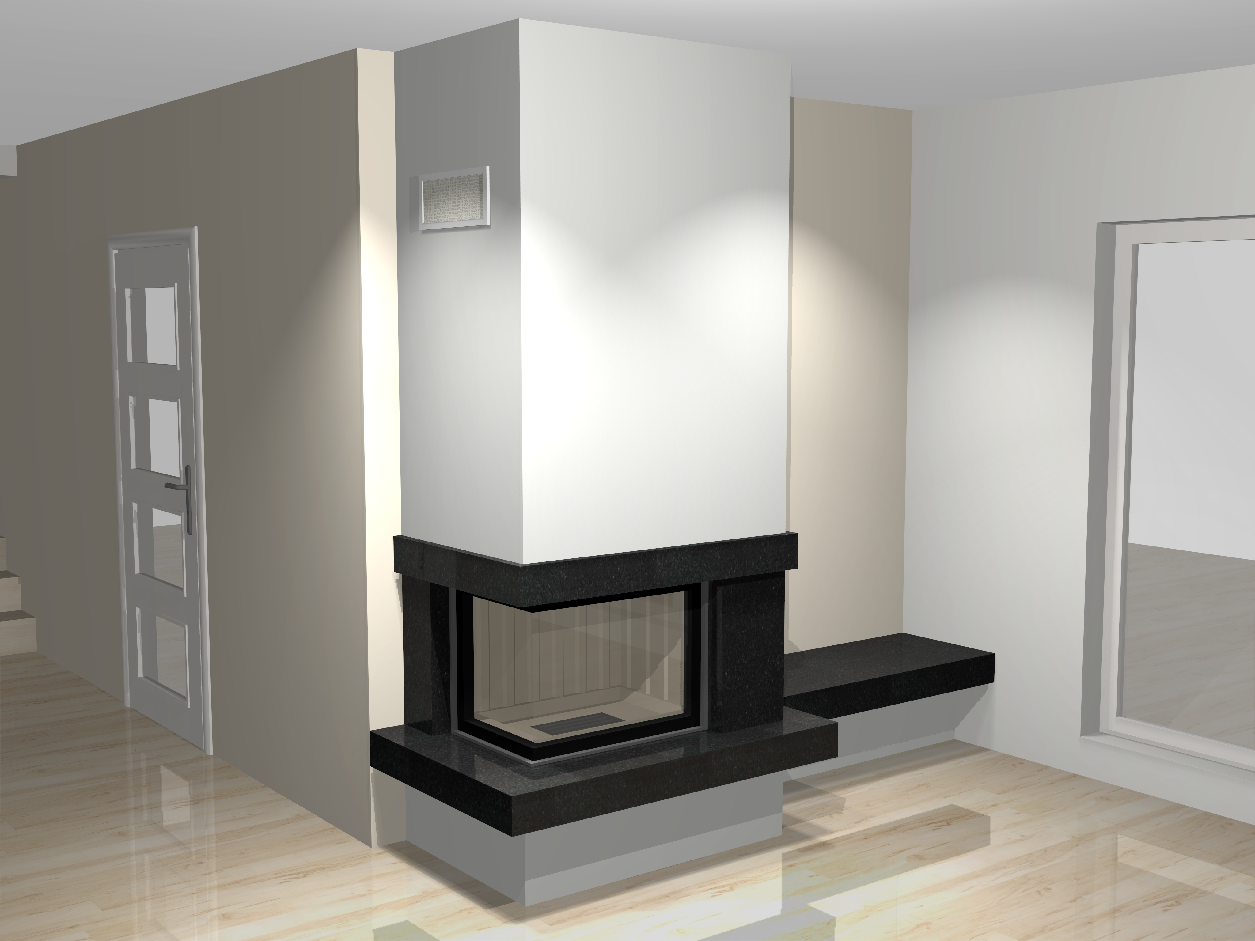 eckkamin modern a 28 2 mit spartherm mit montage www. Black Bedroom Furniture Sets. Home Design Ideas